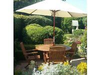 Oak garden furniture