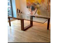 3m long glass dining table