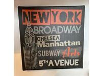 3 x canvas signs suit cafe, bar, mancave, kitchen £10