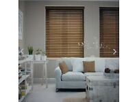 Brand new faux wooden blinds