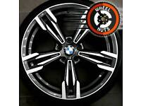 """19"""" BMW M Sport style alloys staggered 3 series match tyres."""