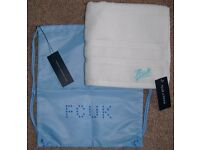 GYM BAG & TOWEL FRENCH CONNECTION *BNWT*