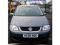 VOLKSWAGEN TOURAN 1.9 TDI 2006 LOW MILEAGE 7 SEATER