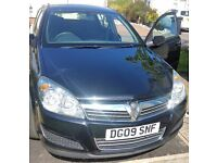 2009 VAUXHALL ASTRA CLUB BLACK 1.6i, 5 DOOR, MOT UNTIL FEB 2018, 97,357 MILEAGE. GOOD CLEAN CAR.