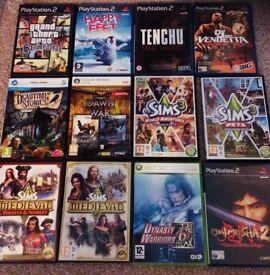 Mixed P.C games and playstation2 games