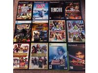 Mixed P.C games and playstation2 games