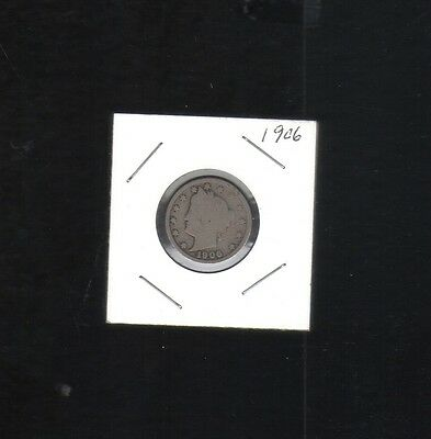 1906 Liberty Head Nickel Collector Coin Designed By Charles E  Barber