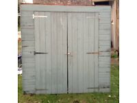 Bike Shed 6ft x 2ft and 6ft high