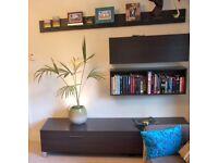 Modern Furniture Set - Low Unit, Wall Units and Glass Shelf