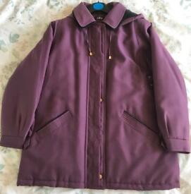 Size 20 David Perry winter coat, worn once.
