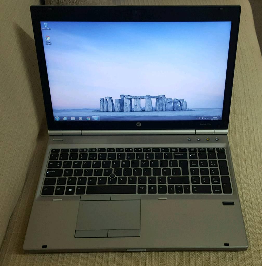 HP Elitebook 8570p. Core i7 3rd gen. 8gb ram. 250gb ssd