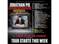 Jonathan Pie: Back to the Studio. 2 tickets for Hammersmith Eventim Apollo London