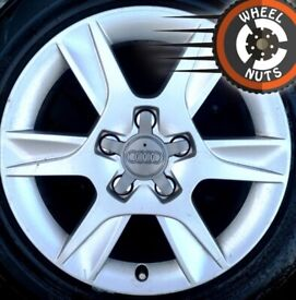 """16"""" Genuine Audi A3 VW Golf alloys excel cond excel tyres."""