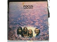 Focus - Moving Waves LP. BLUE HORIZON Labels. Polydor Sleeve. 1971.