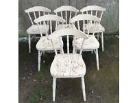 Vintage Pine Dinning Kitchen Chairs Shabby / 12 Available