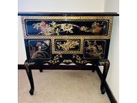 Oriental Chinese Style Side table/drawers