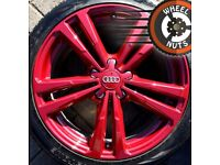 """18"""" Genuine Audi A3 S Line alloys Rio Red Golf Caddy Leon perf cond excel tyres."""