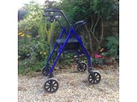 Walking frame with 4 wheels