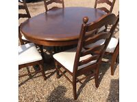 Dining table and 6 chairs £95 Ono