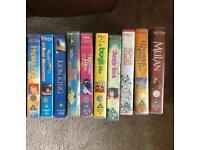 BUNDLE of 10 kids DISNEY vhs tapes