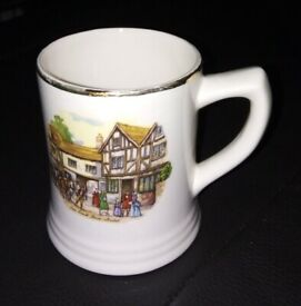 Vintage pottery mug - Old Coach House Bristol