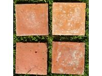 700 (~23 m2) 6 1/2 inch x 6 1/2 inch Reclaimed Victorian Suffolk red pammets pamments floor tiles