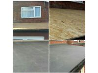 Flat roof repair replacement Epdm rubber roofing replace guranteed no leaks asbestos removal roofer