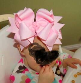 Childrens Big Bows Clips/Hairbands
