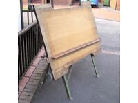 VINTAGE ARCHITECTS ENGINEERS FOLDING DRAFTING BOARD TABLE DESK TECHNICAL DRAWING INDUSTRIAL LOFT