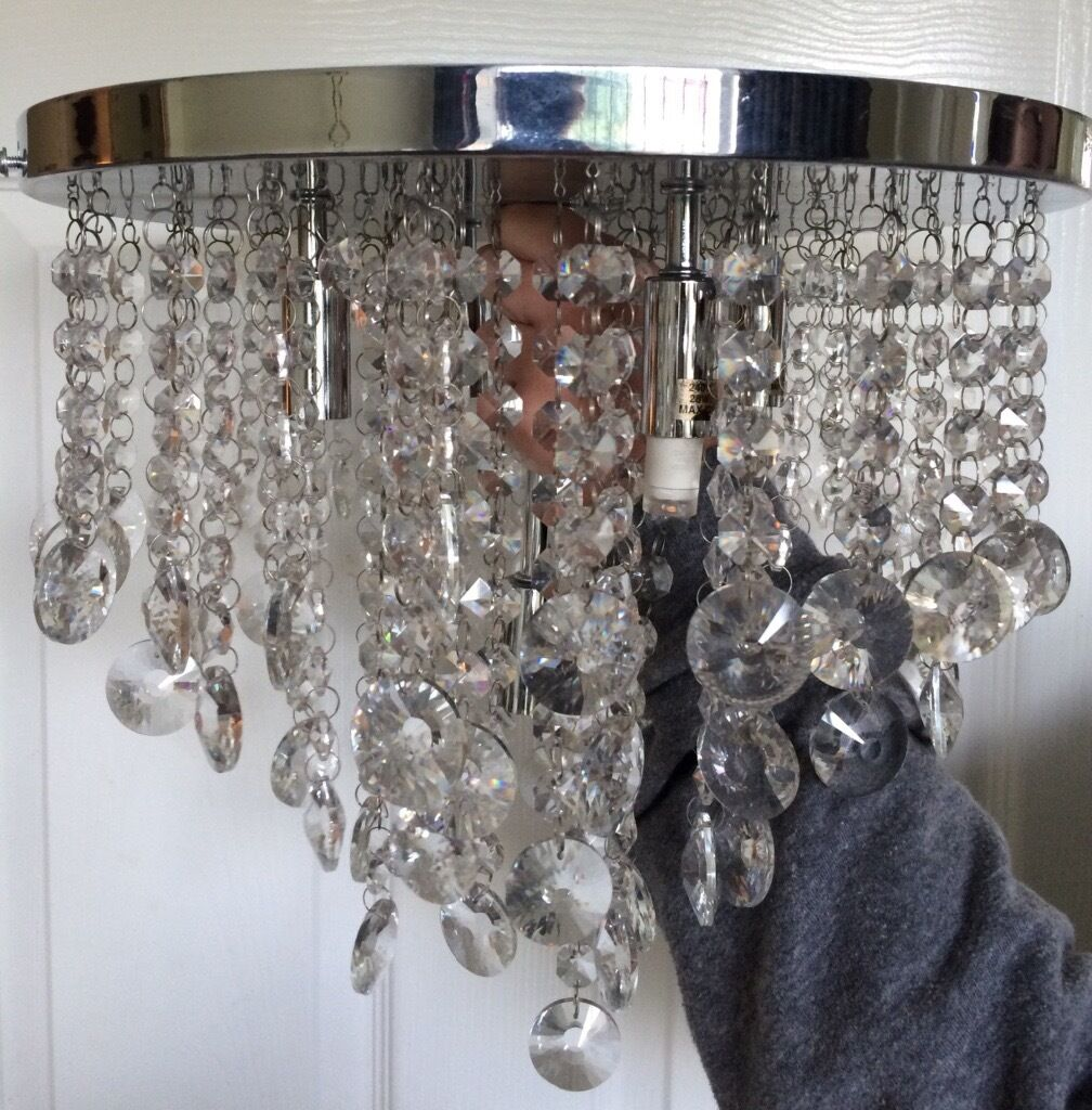 New bhs iris crystal mirror chandelier in fulwood lancashire new bhs iris crystal mirror chandelier arubaitofo Image collections
