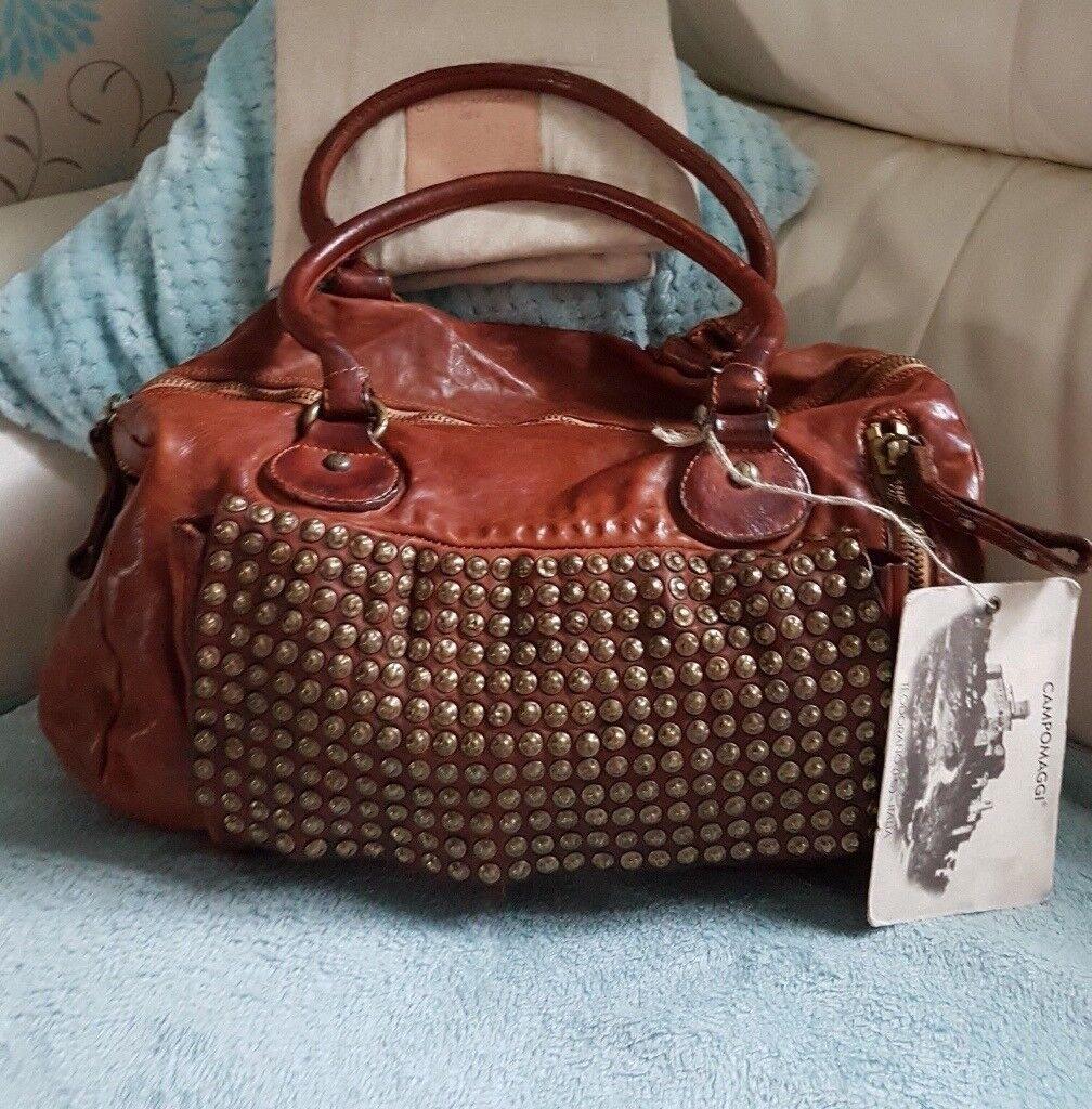 New Campomaggi Bag A Beautiful Cognac Tan Leather Italian Brand With