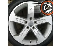 """17"""" Genuine Audi A3 alloys Golf Caddy Leon excel cond matching tyres"""