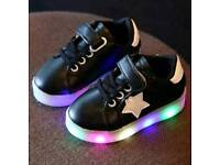 Baby kids led shoes spring star brand new in box never been used