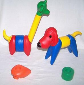 "Vintage Tupperware Animal Assembly Toy ""ZOO IT"" 13 pieces"