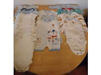Large bundle 0-3 months vests and rompers