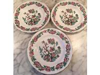 "Vintage 3 Argyle 6"" Plates"