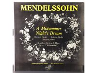 MENDELSSOHN A Midsummer Night's Dream, Symph No.5 (D Minor) 12 inch VINYL