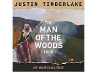 x2 Justin Timberlake tickets
