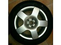 Audi alloy wheel 16 inch and tyre
