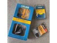 Camelbak cleaning kit, hydro lock, valve cover - new