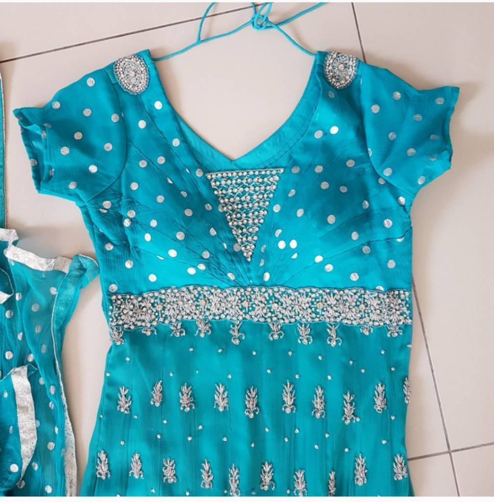 Blue dress suit