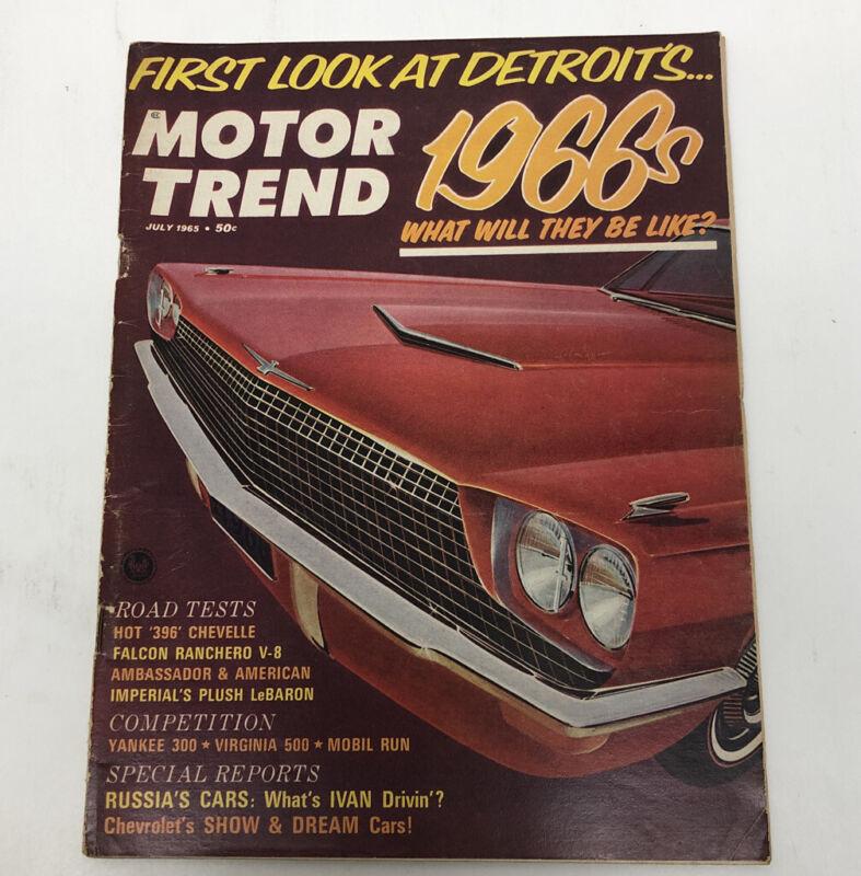 Motor Trend Magazine July 1965