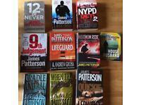 9 James Patterson novels