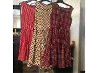 3 vintage style dresses size 10