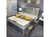 Divan bed, Headboard, Mattress and Delivery