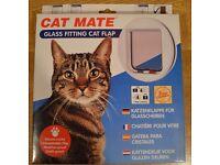 Cat Mate Glass Fitting Cat Flap White (New)