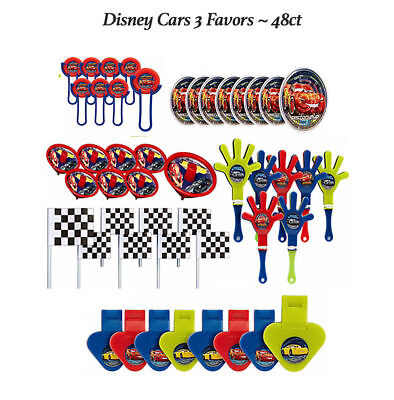 Disney Cars 3 Favor Pack BOYS BIRTHDAY Party Supplies Toys Piñata Fillers ~ 48pc - Boys Birthday Supplies