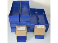 Hardly Used - Link 51 Robust Plastic Shelving Bins Complete With Dividers