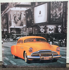 Large New York Taxi Canvas