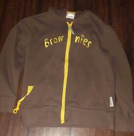 Brownies hooded zip up cardigan
